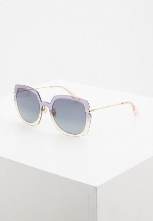 Очки солнцезащитные Christian Dior DIORATTITUDE1 YQL. Цвет: серый