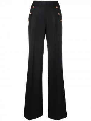 Расклешенные брюки Pt01. Цвет: черный