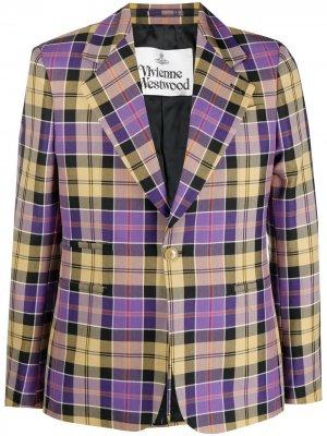 Пиджак в клетку Vivienne Westwood. Цвет: фиолетовый