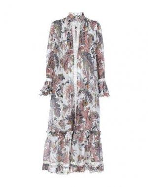 Длинное платье ETRO. Цвет: светло-серый
