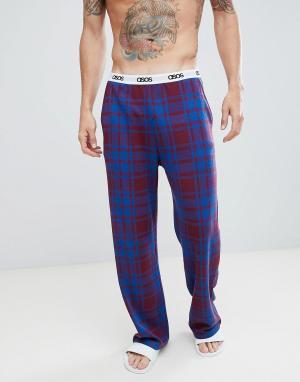 Клетчатые пижамные шорты с логотипом на поясе ASOS DESIGN