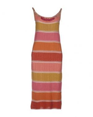 Платье до колена B.YU. Цвет: розовый
