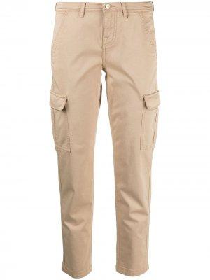 Укороченные брюки карго 7 For All Mankind. Цвет: нейтральные цвета