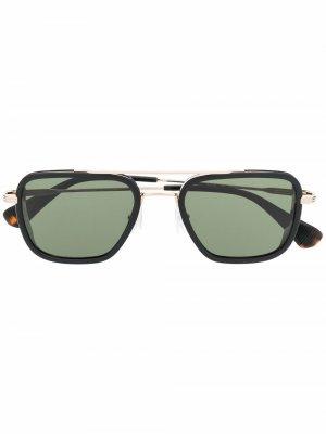 Солнцезащитные очки черепаховой расцветки GIGI STUDIOS. Цвет: золотистый