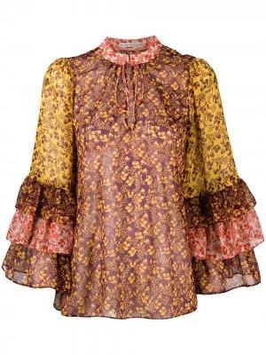 Блузка с принтом Alice+Olivia. Цвет: желтый