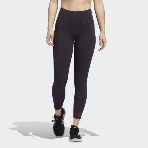 Леггинсы для фитнеса Believe This 2.0 Commuter 7/8 Performance adidas. Цвет: фиолетовый