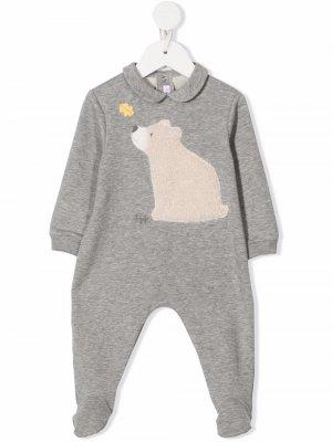 Пижама с нашивкой Il Gufo. Цвет: серый