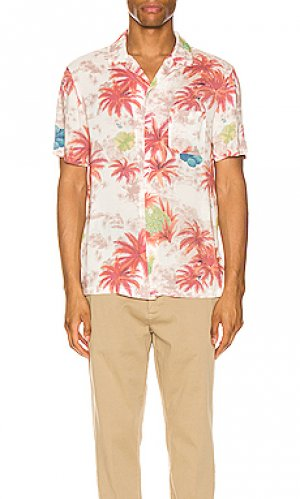 Рубашка с коротким рукавом kanaloa short sleeve shirt ALLSAINTS. Цвет: розовый
