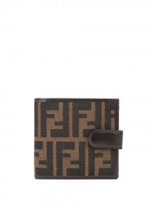 Бумажник с узором Zucca Fendi Pre-Owned. Цвет: коричневый