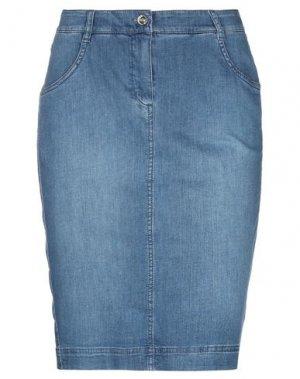 Джинсовая юбка GARDEUR. Цвет: синий