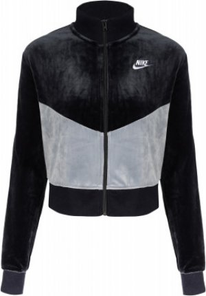 Олимпийка женская Heritage, размер 48-50 Nike. Цвет: черный