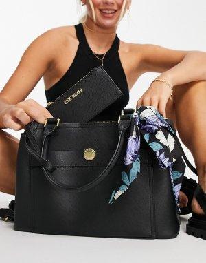 Черная сумка-портфель с визитницей Beijing-Черный цвет Steve Madden