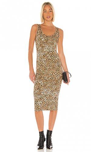 Платье-майка Enza Costa. Цвет: коричневый