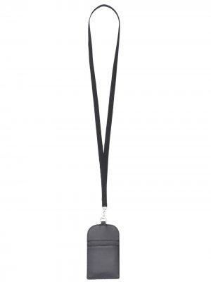 Картхолдер со шнурком на шею A.P.C.. Цвет: черный