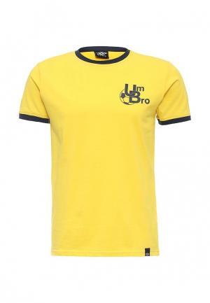 Футболка Umbro BADGE TEE. Цвет: желтый
