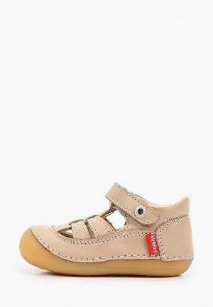 Ботинки Kickers SUSHY. Цвет: бежевый
