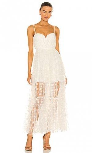 Платье belle SAU LEE. Цвет: белый