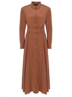 Шелковое платье-макси с поясом TEREKHOV