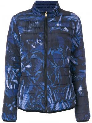 Куртка-бомбер с вышивкой Just Cavalli. Цвет: синий