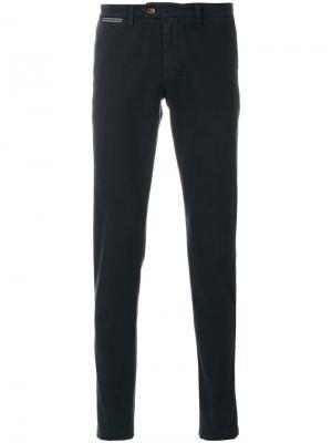 Классические брюки Eleventy. Цвет: синий