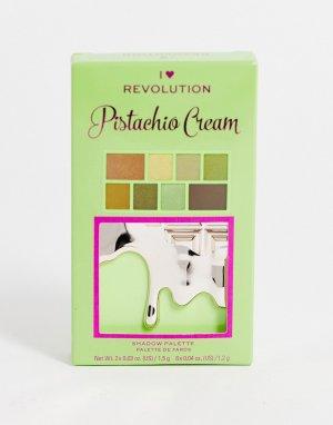 Палетка теней для век – Mini Pistachio Cream Chocolate-Разноцветный I Heart Revolution