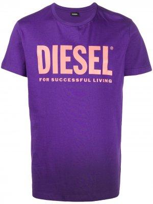 Футболка T-Diego-Logo Diesel. Цвет: фиолетовый