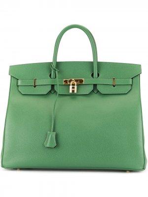 Сумка Birkin 40 Hermès. Цвет: зеленый