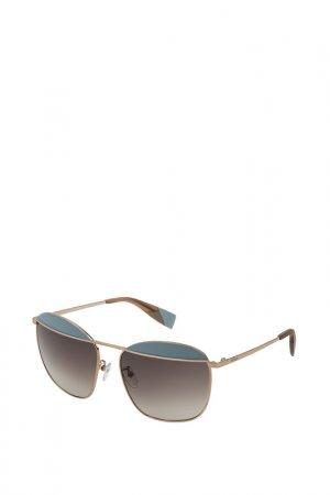 Очки солнцезащитные Furla. Цвет: бронзовый