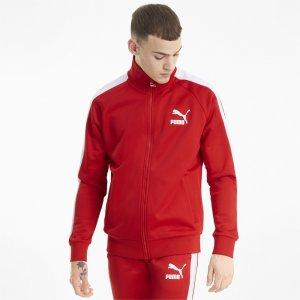 Олимпийка Iconic T7 Mens Track Jacket PUMA. Цвет: красный