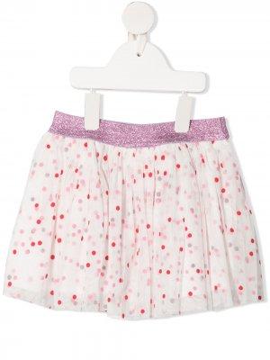 Пышная юбка в горох Stella McCartney Kids. Цвет: белый