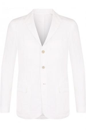 Однобортный льняной пиджак 120% Lino. Цвет: белый