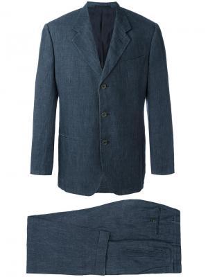 Классический костюм-двойка Romeo Gigli Vintage. Цвет: синий