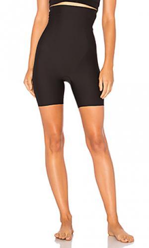 Корректирующие шорты с высоким поясом hidden curves Yummie. Цвет: черный