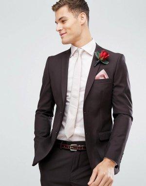 Темно-бордовый пиджак скинни Wedding-Красный French Connection