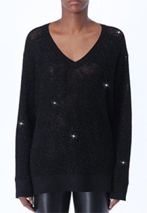 Пуловер ERMANNO SCERVINO. Цвет: черный