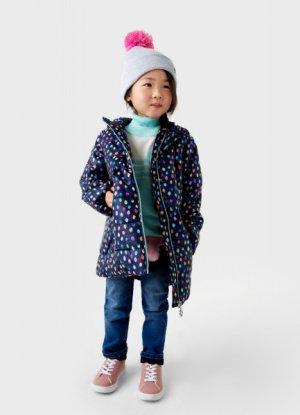 Пальто для девочек O`Stin. Цвет: темно-синий