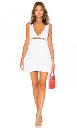Платье lydia Show Me Your Mumu. Цвет: белый