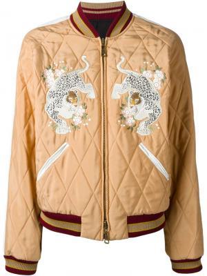 Двухсторонняя куртка-бомбер Chloé. Цвет: телесный