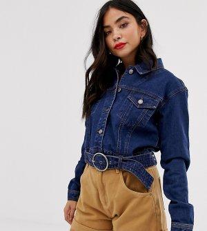 Темная джинсовая куртка в стиле 80-х -Синий Urban Bliss