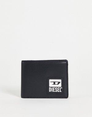 Черный бумажник с логотипом -Черный цвет Diesel