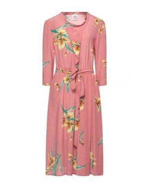 Платье миди ATTIC AND BARN. Цвет: розовый