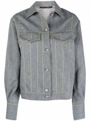 Джинсовая куртка Marco Rambaldi. Цвет: синий