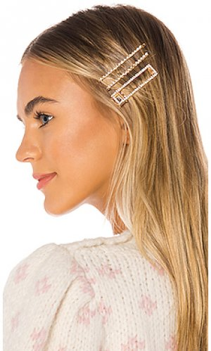 Набор заколок для волос lively 8 Other Reasons. Цвет: металлический золотой