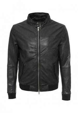 Куртка кожаная Blouson BL033EMQGN52. Цвет: синий