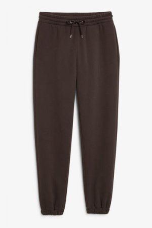 Спортивные штаны из хлопка Monki. Цвет: коричневый