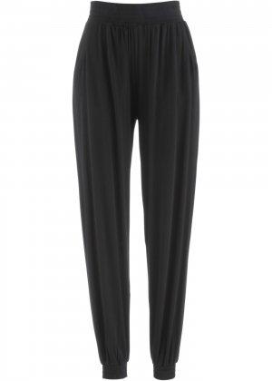 Трикотажные брюки-шаровары bonprix. Цвет: черный