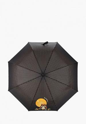 Зонт складной Braccialini. Цвет: черный