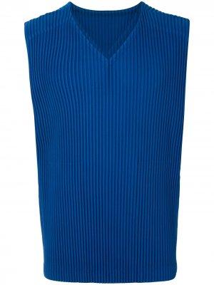 Плиссированный жилет Homme Plissé Issey Miyake. Цвет: синий