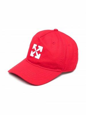 Бейсболка с логотипом Arrows Off-White Kids. Цвет: красный