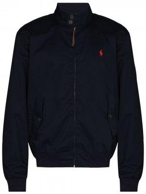 Куртка Barracuda на молнии Polo Ralph Lauren. Цвет: синий